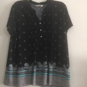 Short sleeve blouse. Size XL